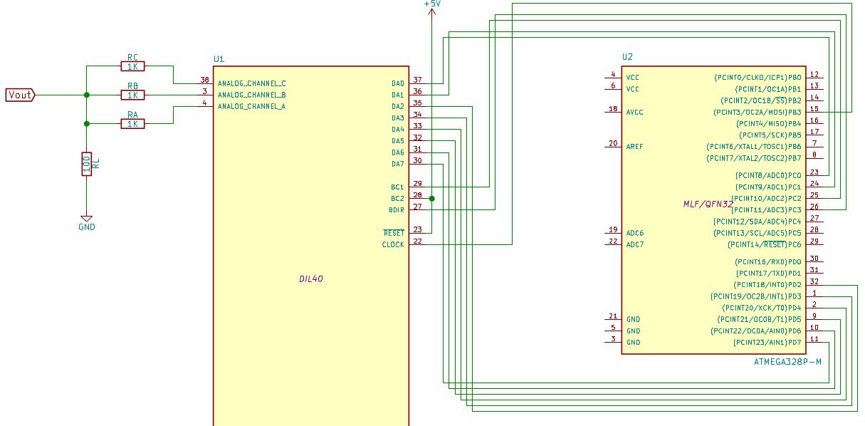 Driving YM2149F sound chip with an Arduino on arduino amplifier, arduino dmx controller, flash circuit schematic, mbed circuit schematic, arduino pcb layout, arduino transistor, iphone circuit schematic,